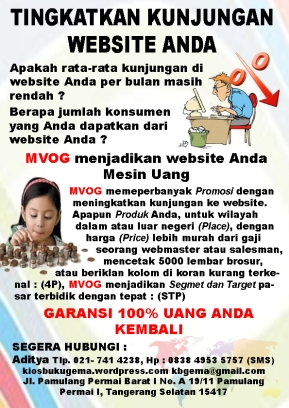 Brosur Optimalisasi web copy